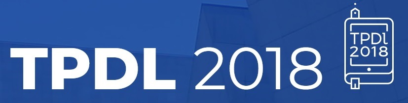 Call for Submissions – TPDL 2018 Conference /Digital Libraries for Open Knowledge